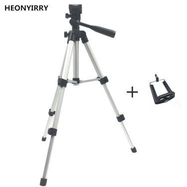 Imagem de Tripé profissional dobrável para câmera, suporte de 360 graus com parafuso, cabeça fluida, tripé