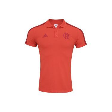 Camisa Polo do Flamengo 3S 2018 adidas - Masculina - VERMELHO adidas ad1902b5435e9