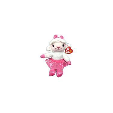 Imagem de Boneca De Pelúcia Pequena Ty Beanie Babies Ovelha Ovelhinha Lambie - Personagem Do Desenho Infantil Doutora Brinquedos Disney - 20 Centímetros De Altura - Dtc Brinquedos