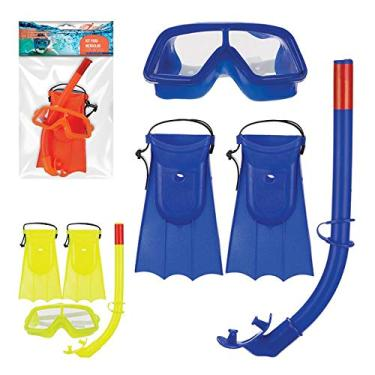 Kit Mergulho C/Snorkel Pe De Pato Infantil