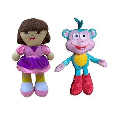 Imagem de Kit 2 Pelúcias Dora Aventureira e se Amigo Macaco Botas
