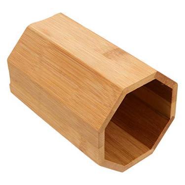 Hemoton Porta-utensílios de cozinha, porta-hashi, utensílio de bambu, talheres, talheres, bancada, organizador de utensílios para facas, garfos, colheres 14,5 cm