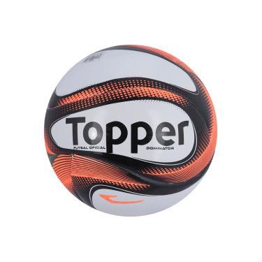 73bc7006d1eef Bola de Futsal Topper Dominator TD2 - BRANCO PRETO Topper