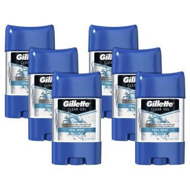 Kit 6 Unid. Desodorante Gillette Endurance - Cool Wave Gel Antitranspi