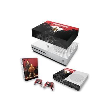 Capa Anti Poeira e Skin para Xbox One S Slim - Wolfenstein 2 New Order