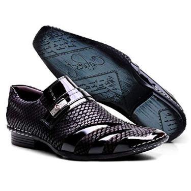 Sapato Social Masculino Calvest Couro Snake Preto - 1750B992-45