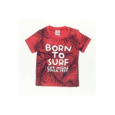 Camiseta Born To Surf Vermelha Costão
