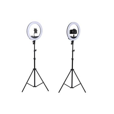 Iluminador Câmera Youtuber Com Tripe Foto Ring Light Celular