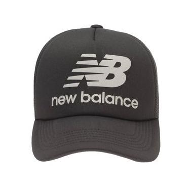 Boné New Balance Trucker Logo Refletivo | Masculino Preto - UNI