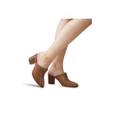 Sapato Mule Beira Rio Feminino Salto Médio Grosso Nude 4227100