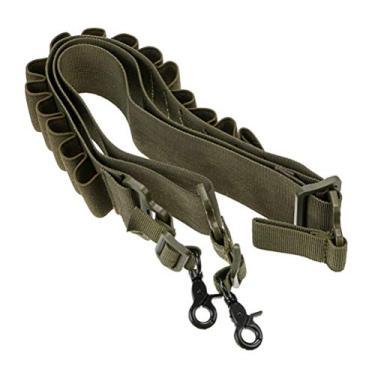 WINOMO Nylon Ajustar Cinto de Treinamento de Caça Caminhadas Cinto Acessórios Cinto de Cintura Presilha para Cartucho com Gancho (Verde) ligar