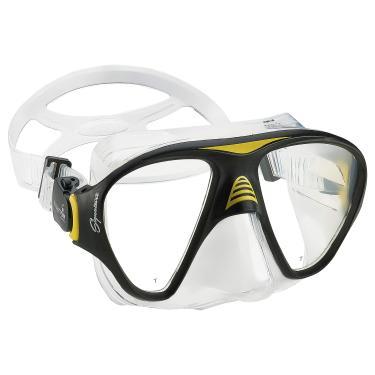 Imagem de Phantom Aquatics Máscara de mergulho exclusiva – Máscara de mergulho premium de vidro temperado resistente a impactos para mergulho – Amarela