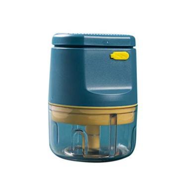 Imagem de DEARLOYEA Espremedor de alho elétrico USB sem fio, triturador de alho, moedor de pimenta