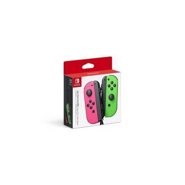 Controle Nintendo Switch Joy-Con - Neon Pink / Neon Green