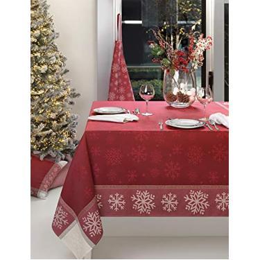 Imagem de Toalha de mesa Portuguesa quadrada VINTAGE CHRISTMAS Jacquard 100% Algodão 1.80x1.80m