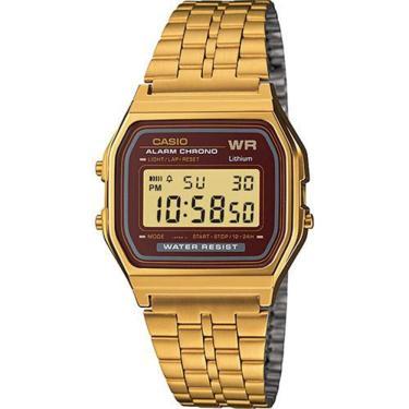 6bb621b7584 Relógio Feminino Casio Digital Vintage A159WGEA-5DF