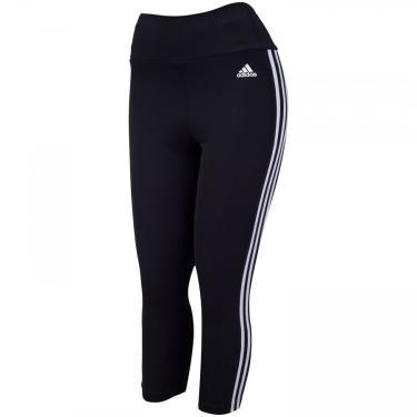 Calça Legging adidas 3 Listras Aeroready 3/4 - Feminina adidas Feminino