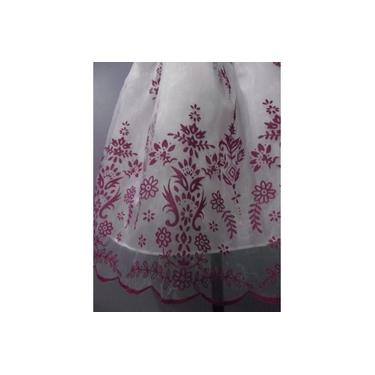 Vestido Infantil Festa Lilás E Branco Tam 1 Ou 3