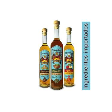Kit Licores finos (Avelã, Amaretto, Maçã) Brennstube Pomerode
