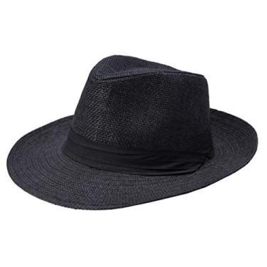 IMIKEYA Chapéu de sol masculino masculino de praia para viagens ao ar livre preto