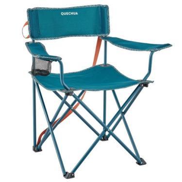 Cadeira dobrável de camping Basic - Basic armchair blue, no size