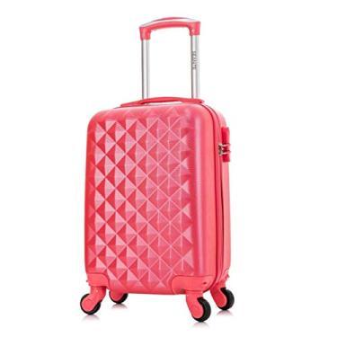 """Mala P De Viagem 20"""" Em ABS Flamingo Rodas 360° Seanite"""