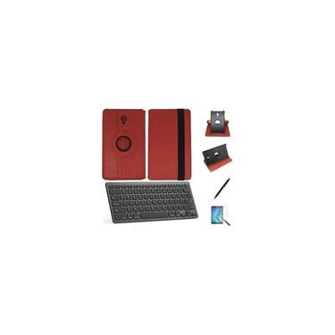 """Kit Capa/Teclado/Can/Pel Galaxy Tab A T580/T585 10.1"""" Verm"""