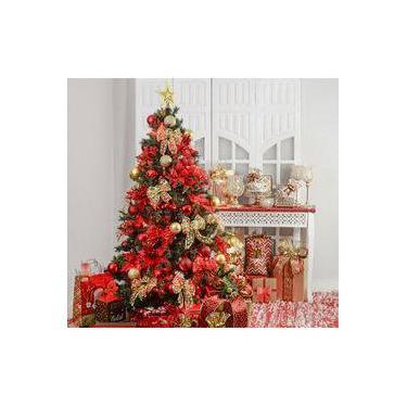 Kit Árvore De Natal Decorada 210cm C/ 75 Enfeites