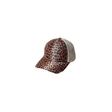 Unissexo verão leopardo exterior malha patchwork boné de beisebol chapéu de sol bonés de beisebol