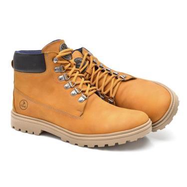 Imagem de Bota Fork 1004 Yellow Couro Amarelo  masculino