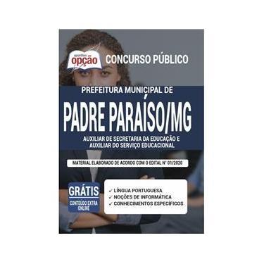 Imagem de Apostila Padre Paraíso Mg - Auxiliar De Secretaria Educação