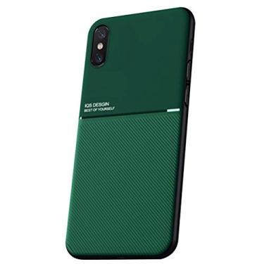 SHUNDA Capa para iPhone Xs Max, capa ultrafina de silicone macio TPU com absorção de choque para iPhone Xs Max (6,5 polegadas) verde