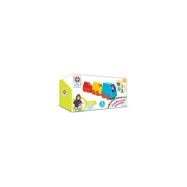 Imagem de Brinquedos Estrela Empilha e Puxa Carrinhos, Multicolorido