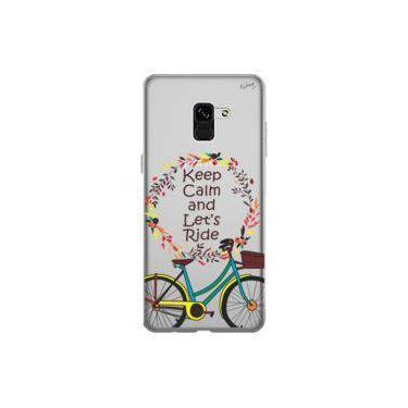 Capa Personalizada para Samsung Galaxy A8 - KEEP CALM AND LET´S RIDE - Quark