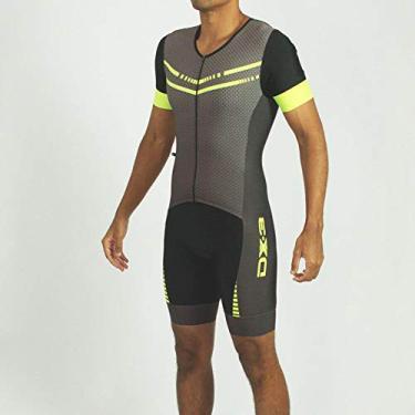 Macaquinho de Triathlon DX3 Masculino - Preto/Flúor P