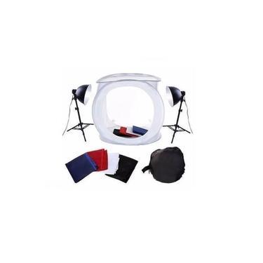 Kit Mini Estúdio Fotográfico Tenda 40cm Tripé - Lâmpada 45w 110v - Greika - Pk-ST07