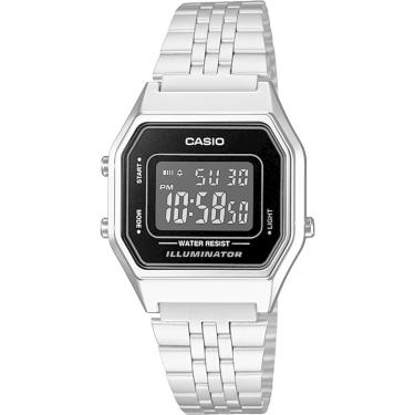 9d171026044 Relógio Casio LA680WA-1BDF Prata Casio LA680WA-1BDF-BR feminino