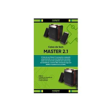 Caixa de Som Sound Master 2.1 Maxprint