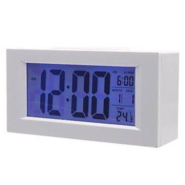 Imagem de Relógio De Mesa Digital Com Dígitos Grandes E Despertador Branco 820 -
