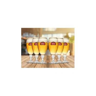 Jogo de Taças para Cerveja de Vidro 6 Peças - 250ml Ambev Stella Artois