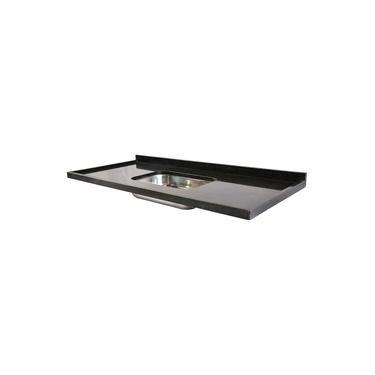 Pia de Granito para Cozinha Levorato – 120x55cm – Granito Preto