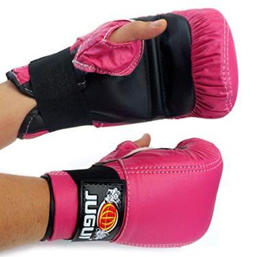 Luva Bate Saco Jugui Boxe/Muay Thay Div. Cores (Pink)