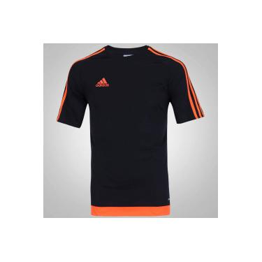 Camiseta adidas Estro - Masculina - PRETO LARANJA adidas 432fef88ff057