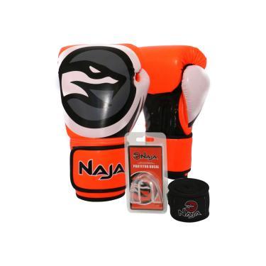cb27346a3 Kit Boxe Muay Thai - Luva Colors Flúor Laranja + Bandagem (2