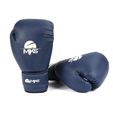 f87c3f25e808a Luva Muay Thai Kickboxing Prospect Mks Combat Azul 14 Oz