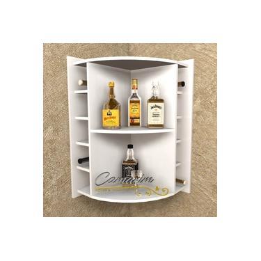 Imagem de Barzinho de canto com Adegas para 10 garrafas - Bar11 BRANCO