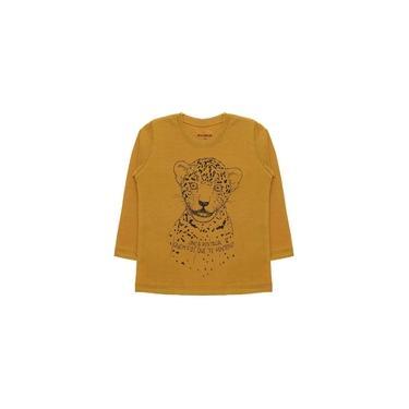Camiseta Infantil Menina Onça Caramelo Momma Baby - MB105-CR