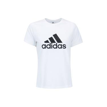 b3b023d6d6 Camiseta adidas D2M Logo Tee - Feminina - BRANCO adidas