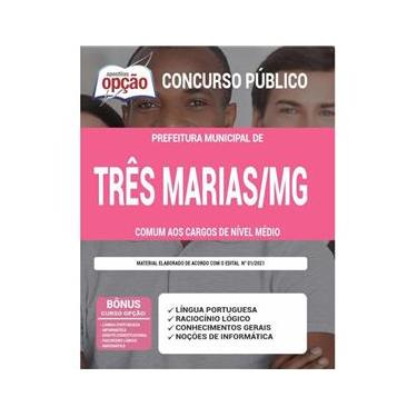 Imagem de Apostila Concurso Três Marias Mg - Cargos De Nível Médio