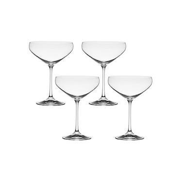 Jogo com 4 Taças De Cristal Para Cocktail 340 ml Linha Bar Bohemia